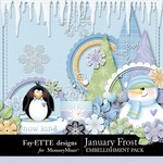 January Frost Embellishment Pack-$3.00 (Ettes and Company by Fayette)