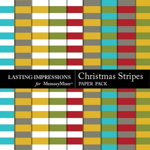 Christmas stripes pp medium