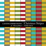 Christmas Stripes Paper Pack-$1.50 (Lasting Impressions)