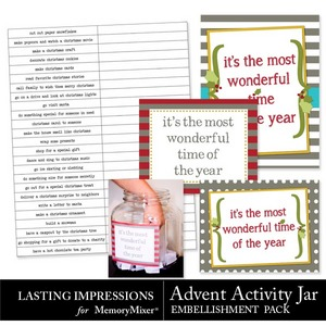 Advent activity jar emb medium