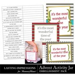 Advent Activity Jar Embellishment Pack-$0.99 (Lasting Impressions)