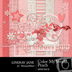 Color my world peach mini medium