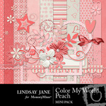 Color My World Peach Mini Pack-$3.99 (Lindsay Jane)