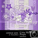 Color my world purple mini small