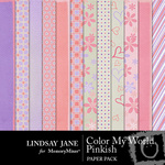 Color My World Pinkish Paper Pack-$3.49 (Lindsay Jane)