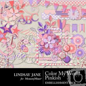Color my world pinkish emb medium