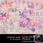 Color My World Pinkish Embellishment Pack-$3.49 (Lindsay Jane)