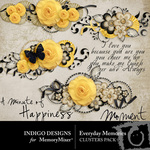 Everyday Memories Cluster Pack-$1.99 (Indigo Designs)