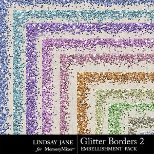 Glitter borders 2 pastel medium