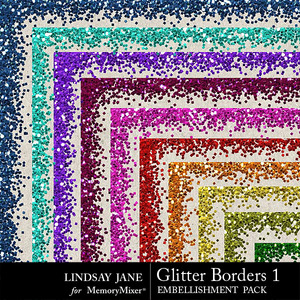 Glitter borders 1 bright medium