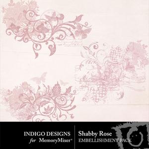 Shabby rose accents medium
