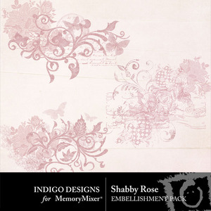Shabby rose accents medium