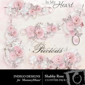 Shabby rose clusters medium