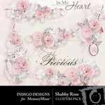 Shabby Rose Cluster Pack-$1.99 (Indigo Designs)