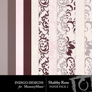 Shabby rose embossed pp medium