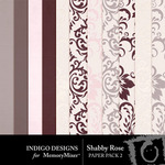 Shabby Rose Embossed Paper Pack-$3.49 (Indigo Designs)