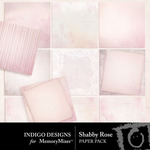 Shabby Rose Paper Pack-$3.99 (Indigo Designs)