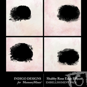 Shabby rose edge effects medium
