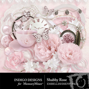 Shabby rose emb medium