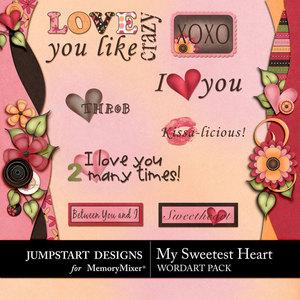 My sweetest heart wordart medium