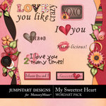 My Sweetest Heart WordArt Pack-$1.99 (Jumpstart Designs)