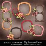 My sweetest heart cluster frames small