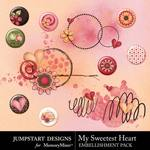 My Sweetest Heart Flair Pack-$1.99 (Jumpstart Designs)