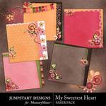 My Sweetest Heart Stacked Paper Pack-$2.99 (Jumpstart Designs)