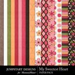 My Sweetest Heart Paper Pack-$3.99 (Jumpstart Designs)