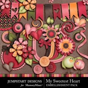 My sweetest heart emb medium