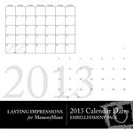 2013 calendar dates small