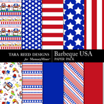 Barbecue USA Paper Pack-$2.99 (Tara Reed Designs)