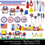 Barbecue USA Embellishment Pack-$2.49 (Tara Reed Designs)