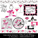 One Last Fling Embellishment Pack-$2.99 (Tara Reed Designs)
