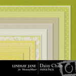 Daisy Chain Embossed Paper Pack-$2.49 (Lindsay Jane)