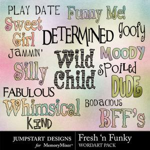 Fresh n funky wordart medium