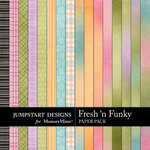 Fresh n Funky Add On Paper Pack-$3.49 (Jumpstart Designs)