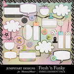 Fresh n Funky Add On Embellishment Pack-$3.99 (Jumpstart Designs)