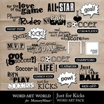 Just for Kicks Embellishment Pack-$2.49 (Word Art World)