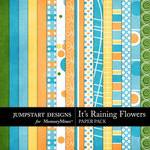 Its Raining Flowers Paper Pack-$2.99 (Jumpstart Designs)