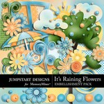 Its Raining Flowers Embellishment Pack-$2.99 (Jumpstart Designs)