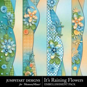 Its raining flowers borders medium