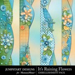 Its Raining Flowers Border Pack-$2.49 (Jumpstart Designs)