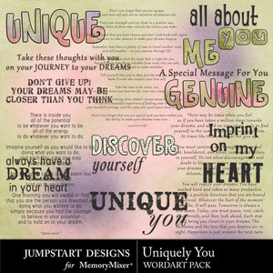 Uniquely you wordart medium