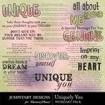 Uniquely You WordArt Pack-$2.99 (Jumpstart Designs)