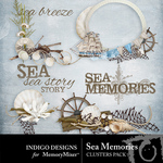 Sea Memories Cluster Pack-$1.99 (Indigo Designs)
