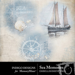 Sea Memories Overlay Embellishment Pack-$1.00 (Indigo Designs)