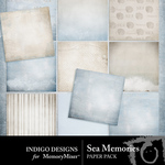Sea Memories Paper Pack-$1.75 (Indigo Designs)