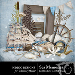Sea Memories Embellishment Pack-$1.50 (Indigo Designs)
