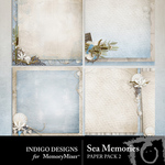 Sea Memories Stacked Paper Pack-$3.25 (Indigo Designs)